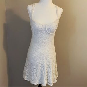 Off White Floral Lace Dress